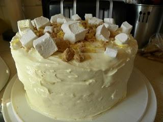 Lemon Meringue Pie Ice Cream Cake, with Lemon Cake and Lemon Meringue ...