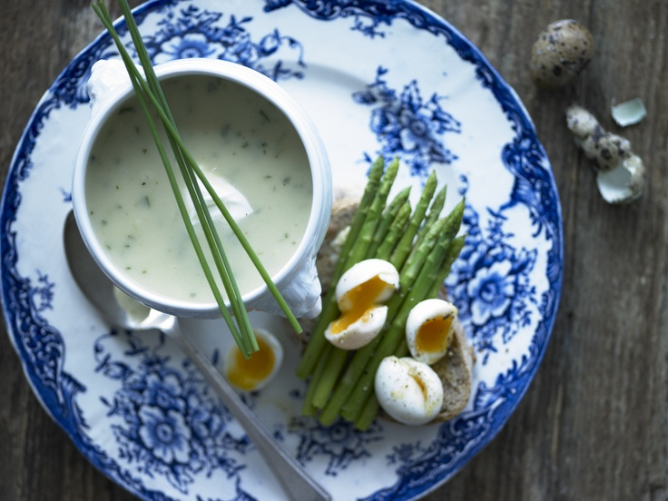 asparagus soup with poached eggs and toast recipe egg with yolk oozing ...