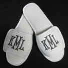 monogram slippers...cute