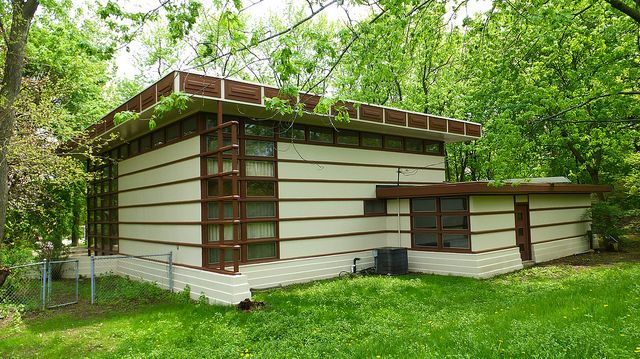 Pin by james butler on frank lloyd wright usonian homes for Frank lloyd wright modular homes