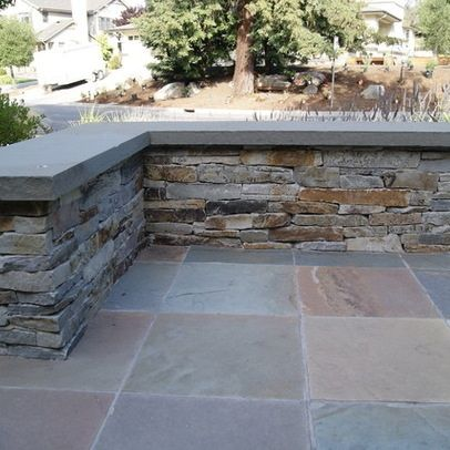 slate patio ledge bench outdoor spaces