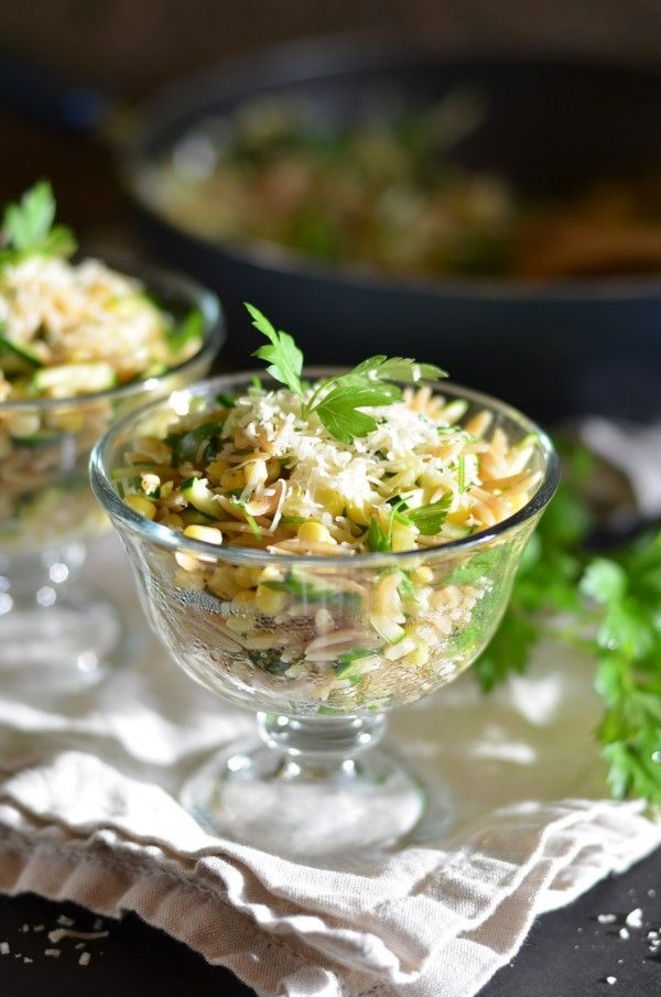 Orzo with Zucchini and Sweet Corn | Yum!! | Pinterest