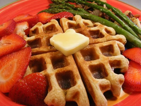 ... on the Deck Sour Cream Waffles. Good crunchy on the outside waffle