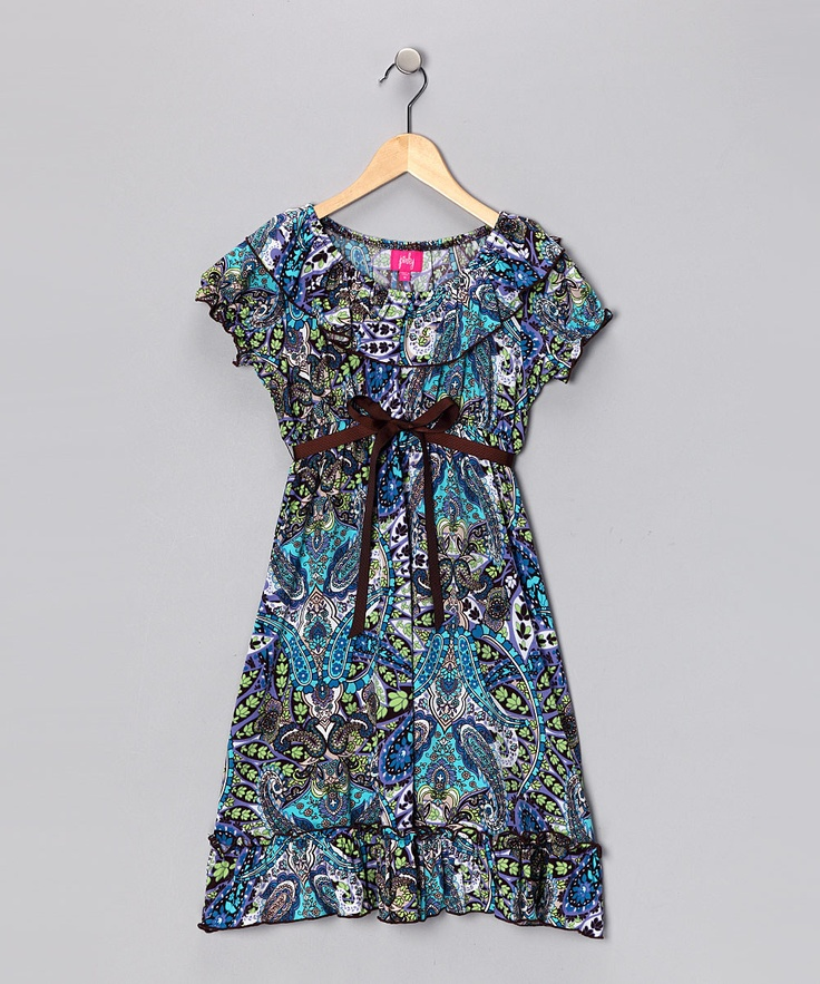Turquoise Dress #zulily #fall | Kids' Fall Essentials | Pinterest
