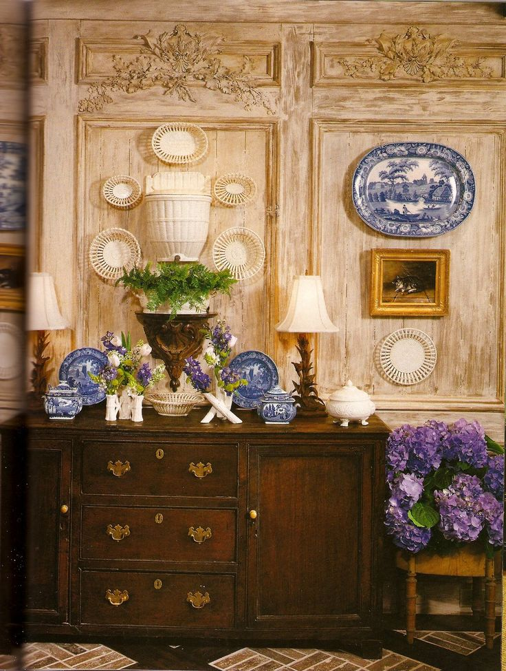 Faudree charles faudree pinterest for Decorating with blue and white pottery