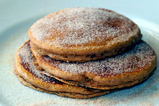 Gingerbread Pancakes with Cinnamon Sugar Topping http://www.yummly.com ...