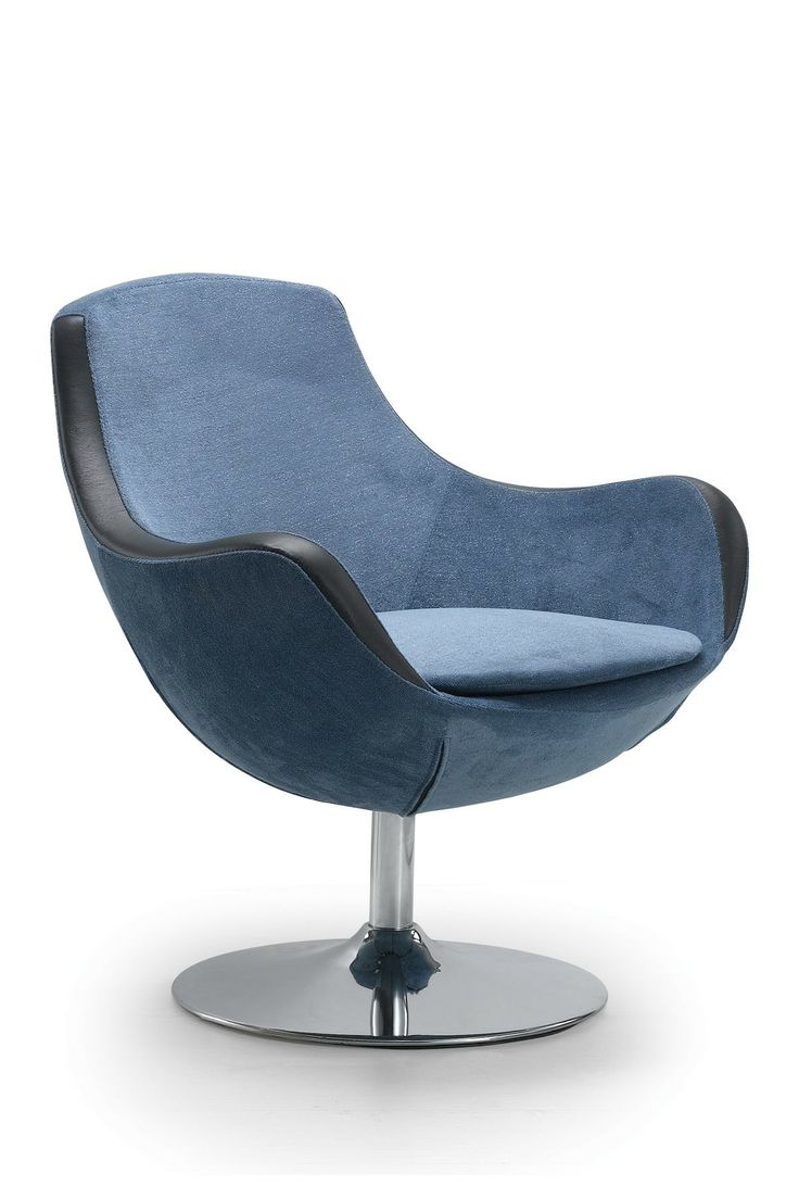 Simona Blue Lounge Chair Style