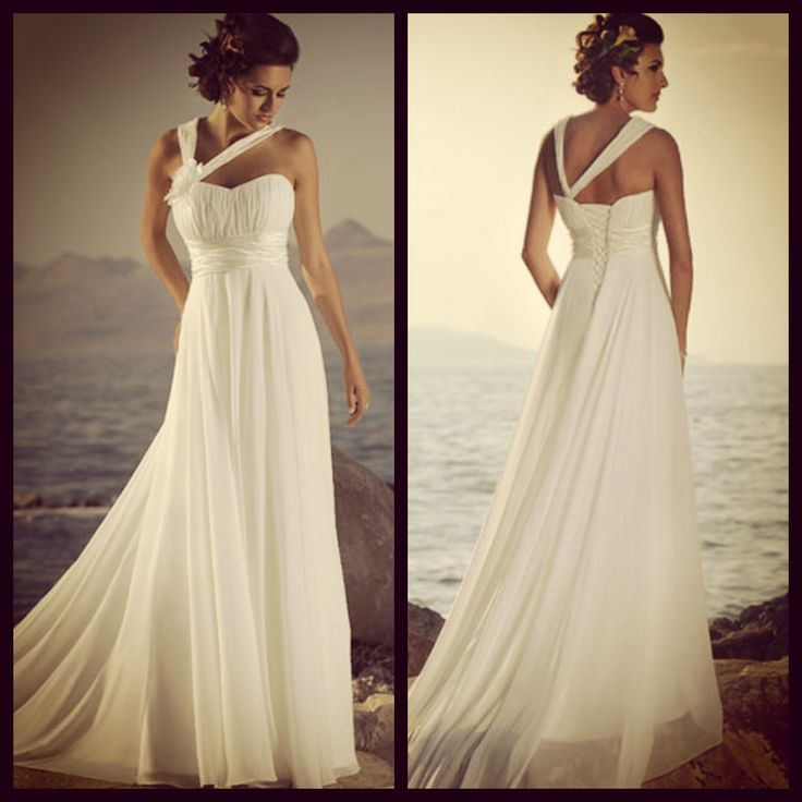Flowing beach wedding dresses flower girl dresses for Flowing beach wedding dresses