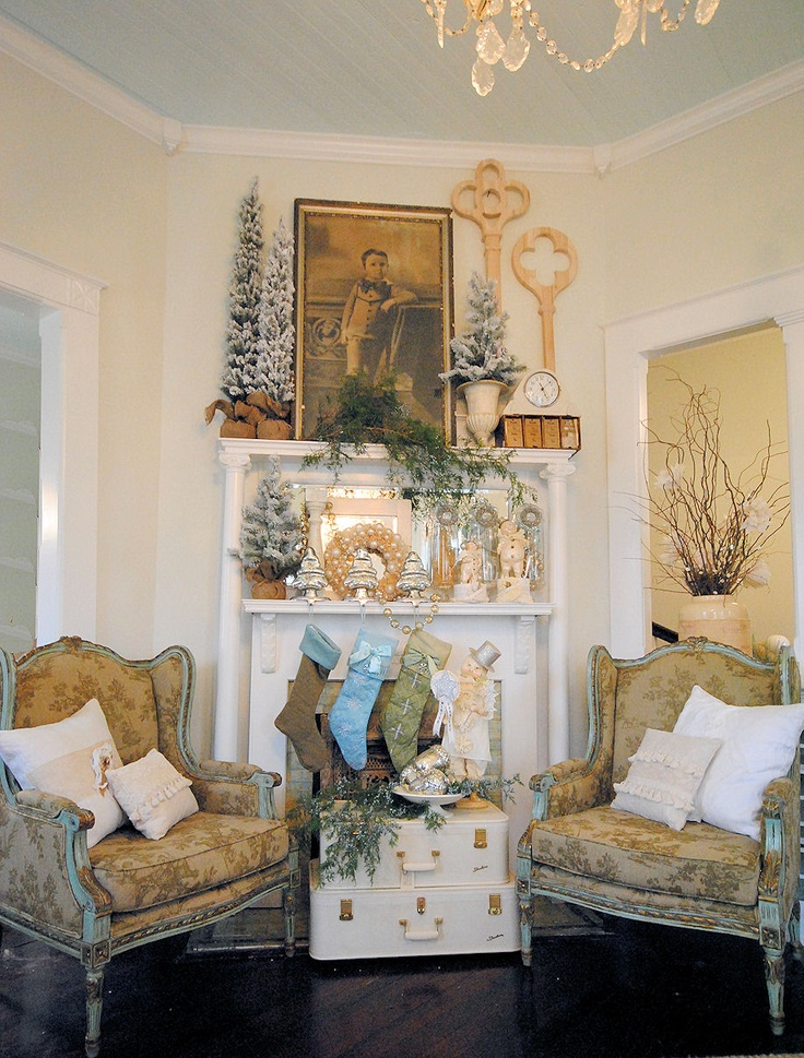 Pretty Mantel Display For The Home Pinterest