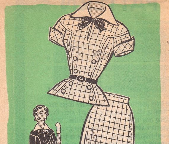 1960s TwoPiece Dress Pattern Marian Martin 9178 by OneMoreCupOfTea, $8.00