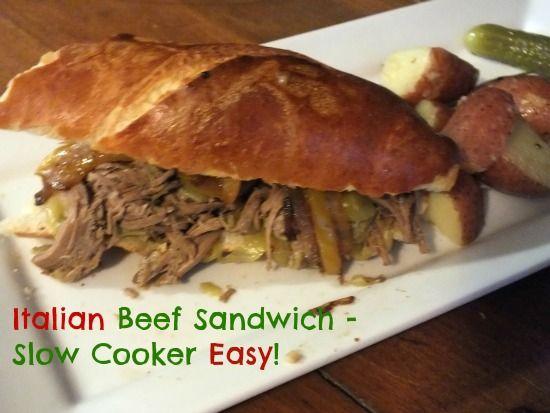 Slow Cooker Italian Beef Sandwiches   Recipe