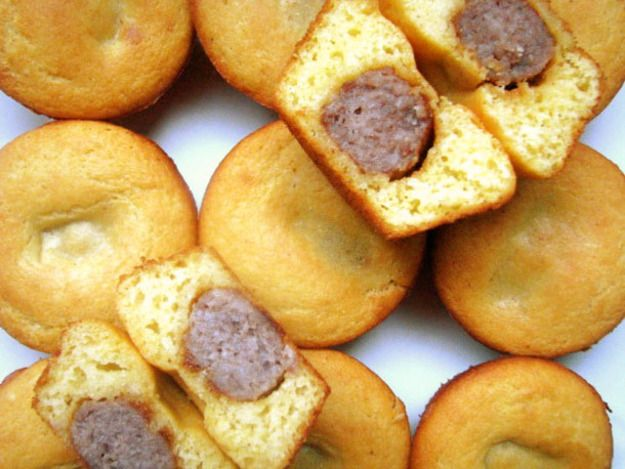 Sausage-Stuffed Corn Muffins - Make these ahead and pop them in the ...