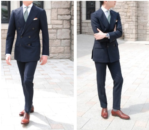 Brown Shoes with Navy Suit