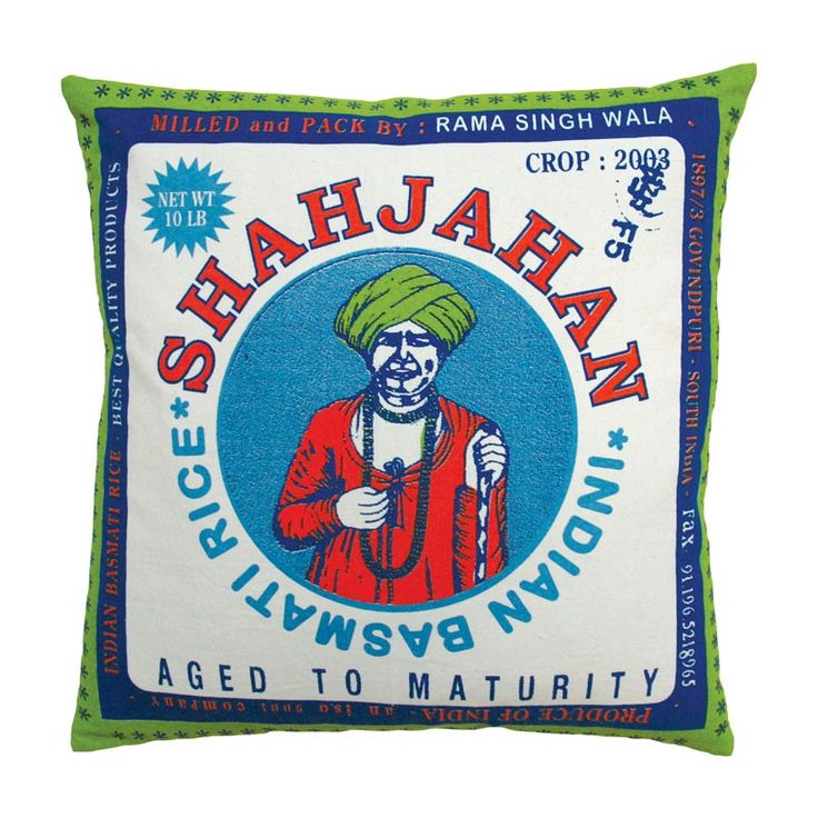 Koko // Rice Shahjahan Throw Pillow | INDIAN DECOR (CONTEMPORARY) |…