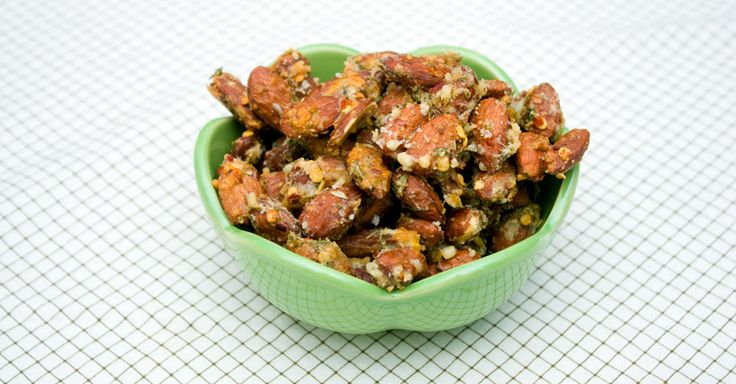 savory roasted almonds | Food - Dips & Appetizers | Pinterest
