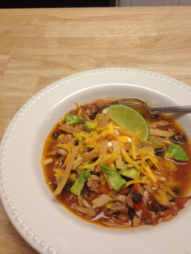 Roasted chicken + tortilla soup   Soups on...   Pinterest