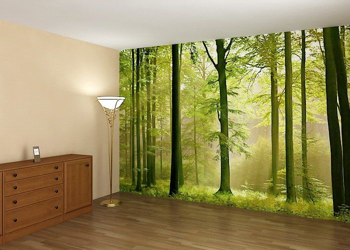 Autumn forest wall mural interior design pinterest for Autumn forest wallpaper mural