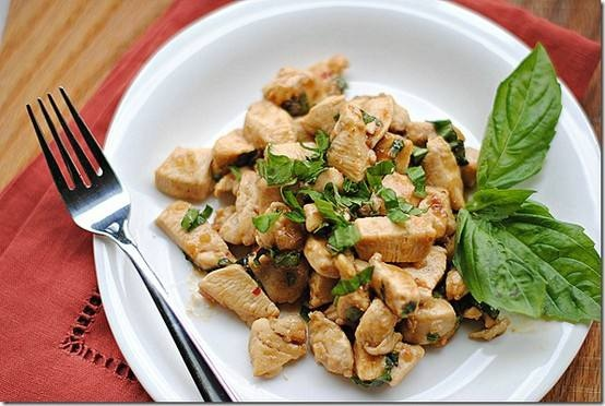spicy basil chicken | Food And Drinks | Pinterest