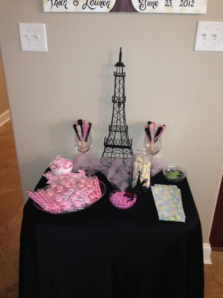 pink and black paris baby shower theme baby shower pinterest