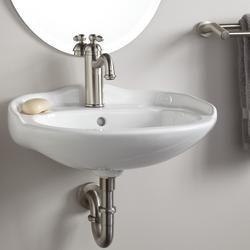 Mini Wall Mount Sink : Victorian Mini Wall-Mount Bathroom Sink - 4