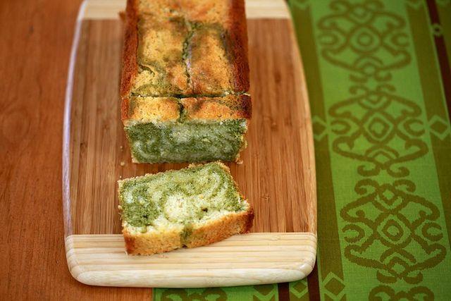 LEMON AND MATCHA MARBLE POUND CAKE | Bake Sale Worthy | Pinterest