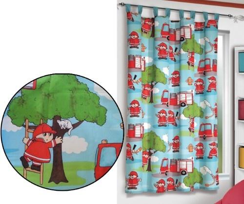 Vorhang Kinderzimmer Feuerwehr : Vorhang Feuerwehr, 160 x 140 cm, bunt (1 Schal)