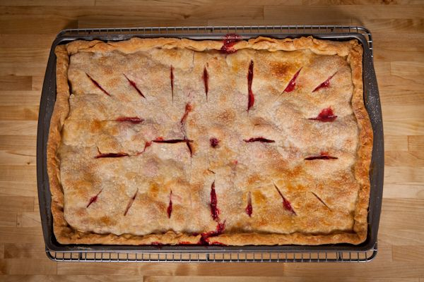 Apple Raspberry Slab Pie | Recipe