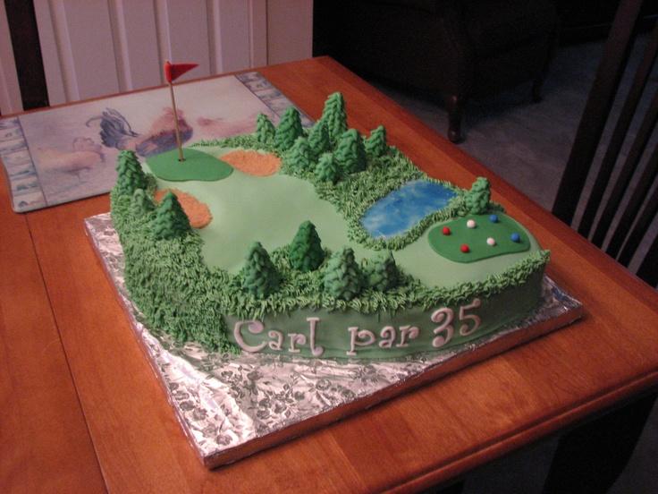 Fondant Golf Cake Design : Cake gateau fondant golf Cake Gateau Chantaloo Pinterest