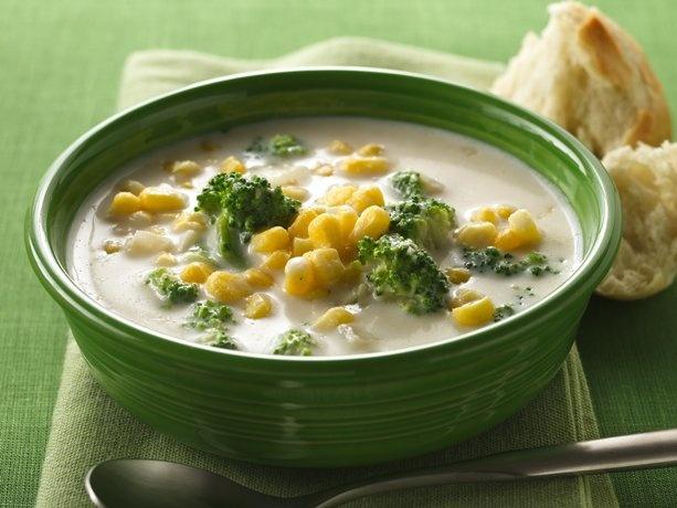 Creamy Corn and Broccoli Chowder - used milk instead of cream and ...