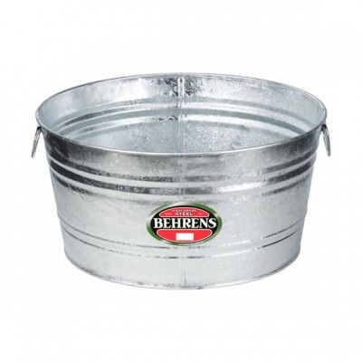 Metal Wash Tub Sink : Laundry Room Sink: Olive - Behrens Metal Wash Tub - 17 Gallon Hot ...