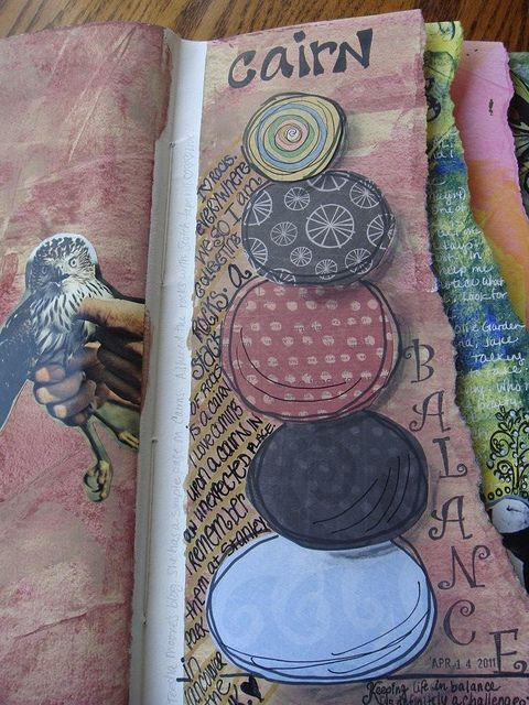 Art Journal Love - shorten the pages...