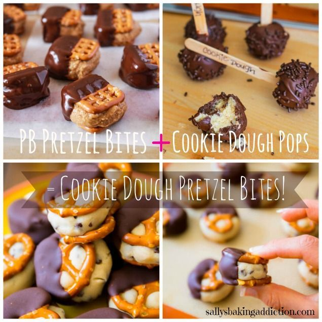 ... Bites + Cookie Dough Truffles = Cookie Dough Pretzel Bites! These are