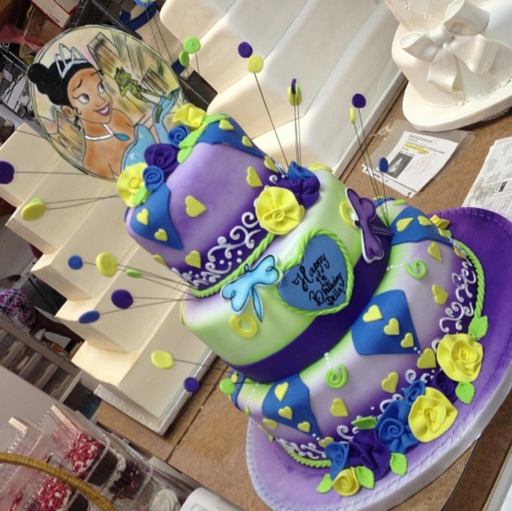 The princess and the frog cake.