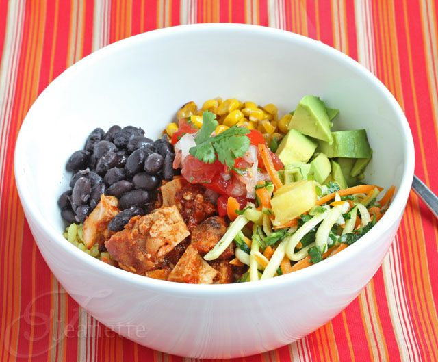 Cha Cha Bowl (Recipe for Mexican Chicken and Black Bean Rice Bowl ...