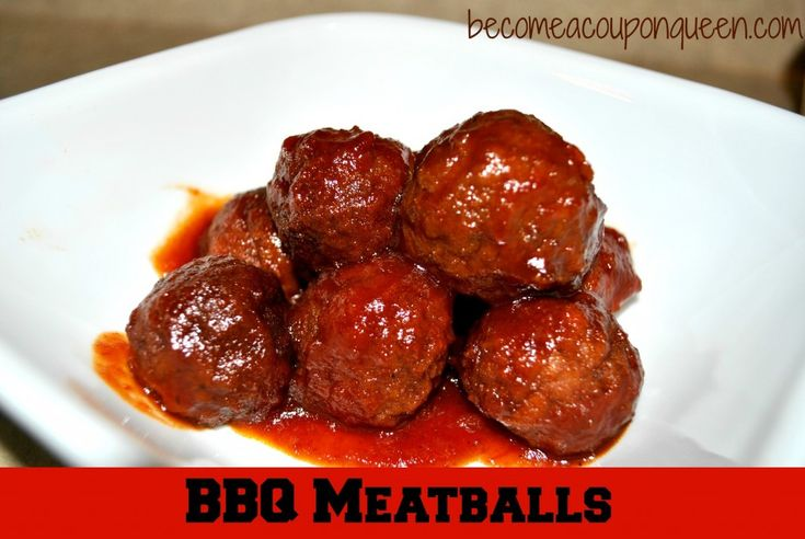 BBQ Meatballs | ♥ Slow Cooker Saturday Link Party ♥ | Pinterest