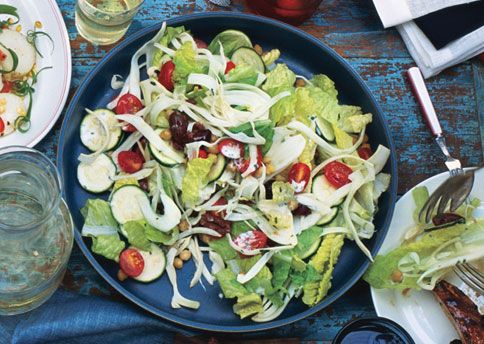 Salad with Roasted Garlic Dressing This might just be Layered Salad ...