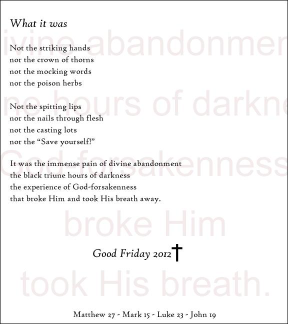 Good Friday poem. | Beautiful Life | Pinterest