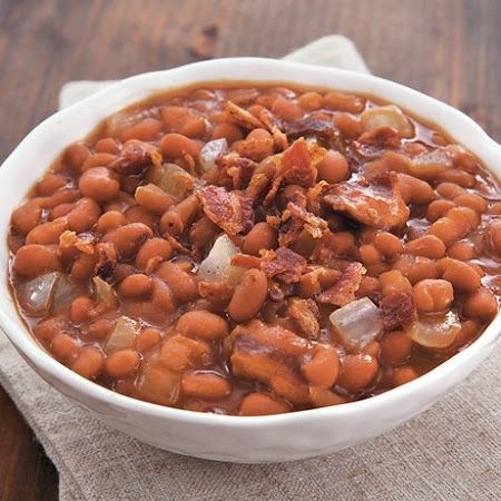 Slow Cooker Bacon Brown Sugar Baked Beans: 3 28oz baked beans, 8 ...