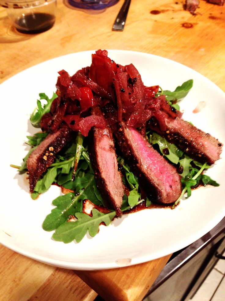 Skirt Steak and Arugula Salad — One If By Food
