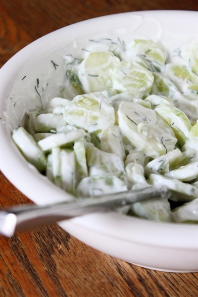 Cucumber and Yogurt Salad | Food | Pinterest