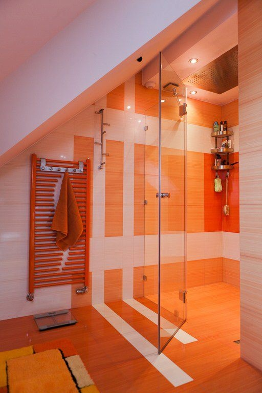 Bathroom Orange Bath Pinterest