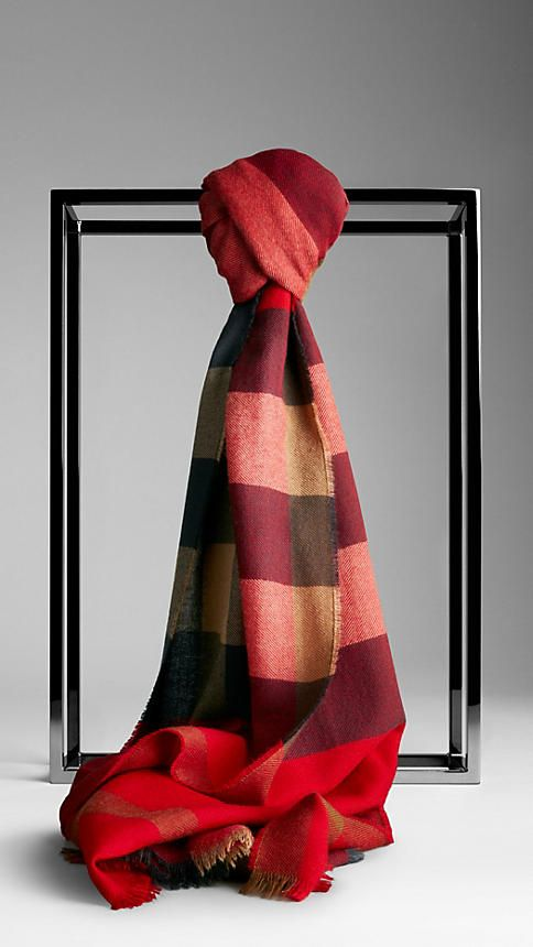 Check Cashmere Scarf  Burberry Mothers Burberry Scarf