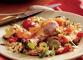 Baked Chicken and Rice with Autumn Vegetables | Recipe