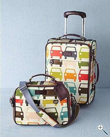 Fun luggage! Road trip!!!