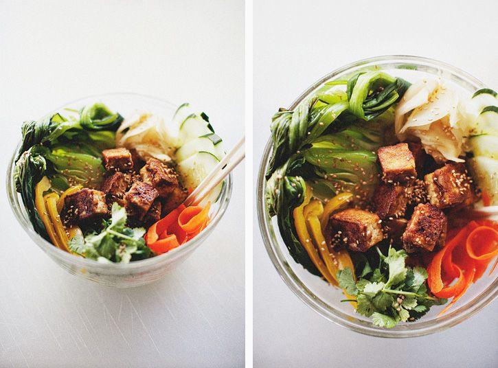 Peanut Sauce Bento Bowl | Healthy Eating | Pinterest