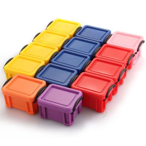 Storage Box Case Container Organizer Plastic Mini Lid