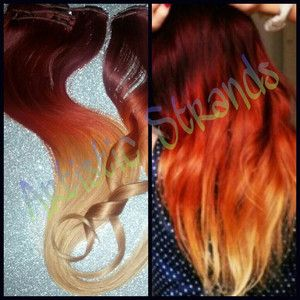 Fire ombré... Red To Blonde Ombre Hair Tumblr