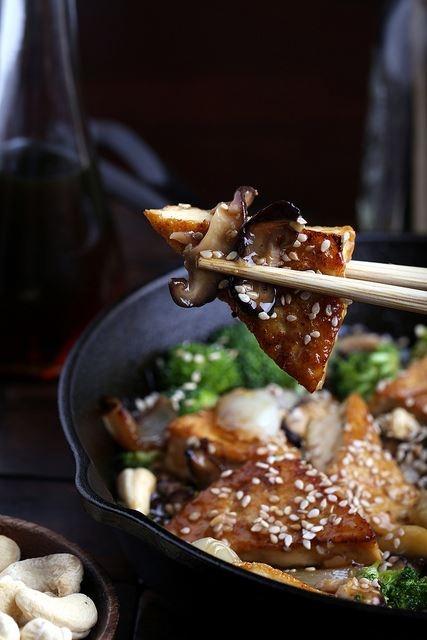 Sweet and Sticky Cashew Tofu | Food | Pinterest