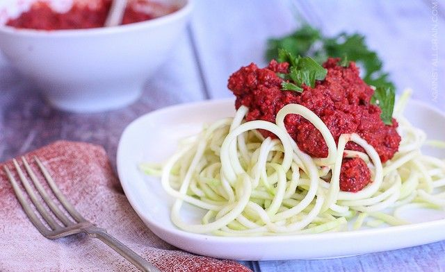 Tomato-less meat sauce from Against All Grain - using beets and veggies.  Can't wait to try this for my nightshade sensitivities!