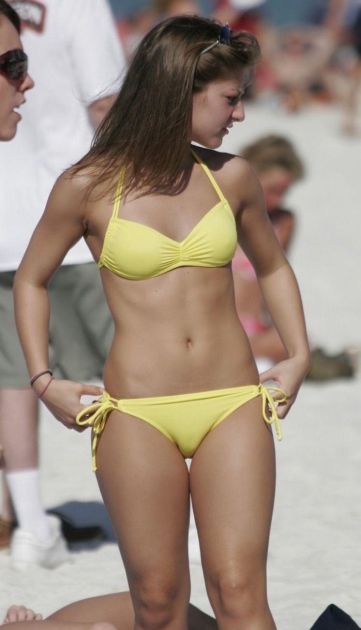 Girls in tight small bikinis